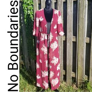 Long floral Kimono ll No Boundaries